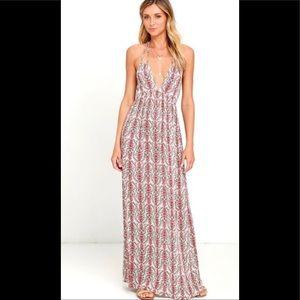 Lulu's Divine print maxi dress